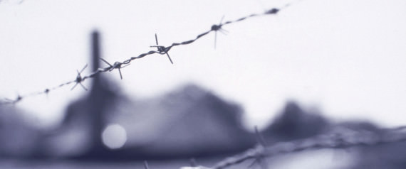 Wire fence, Buchenwald concentration camp, Germany