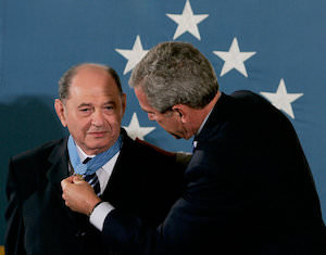 President George W. Bush bestowing the Medal of Honor on Corporal Rubin on Credit Mark Wilson:Getty Images