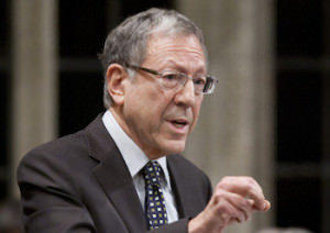 Liberal MP Irwin Cotler rises during question period in the House of Commons in Ottawa, Thursday December 15, 2011. THE CANADIAN PRESS/Adrian Wyld